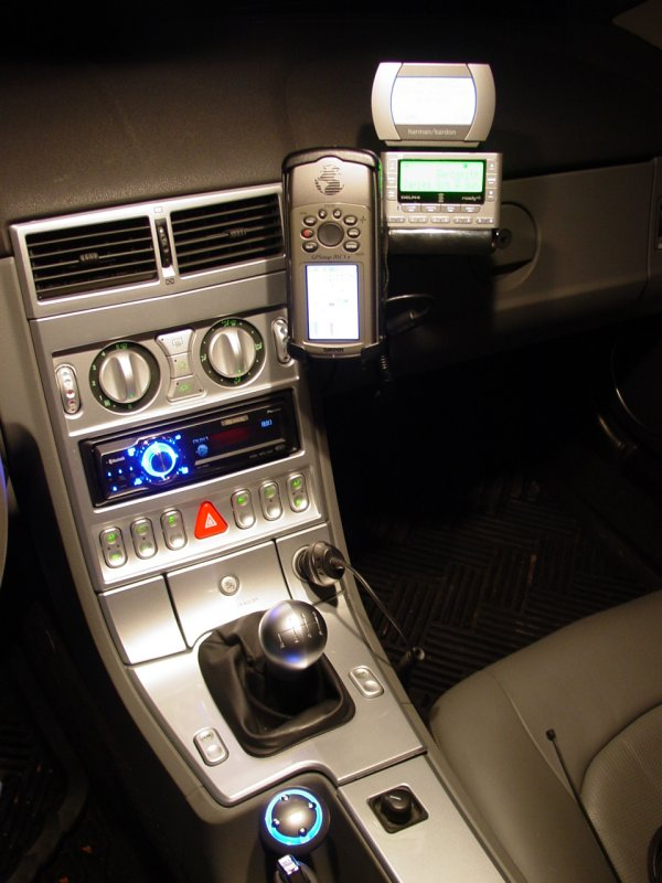 2004 chrysler crossfire pioneer premier deh p980bt crossfire interior with new wiring with external gps driveplay ipod interface and xm radio asfbconference2016 Choice Image