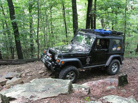 "1999 Jeep Wrangler Sport ""TJ"" on Dictum Ridge (July 27, 2002) - Click to Enlarge"