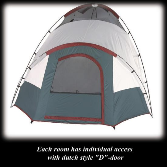 4x4 icon hillary 7 person sequoia 3 room dome tent d door