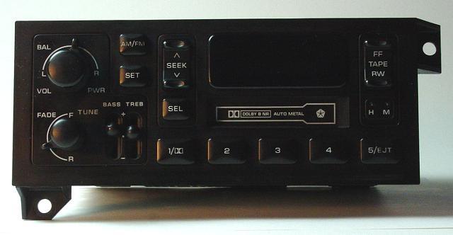 4x4 icon pioneer deh p77dh Pioneer Deh P77DH Rear factory jeep am fm radio cassette